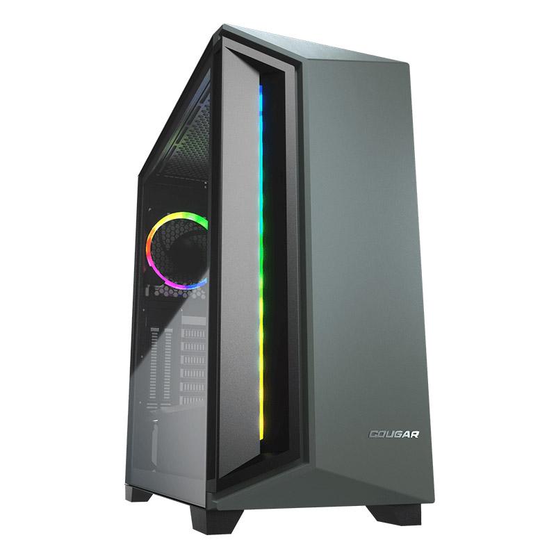 GABINETE COUGAR DARKBLADER X7 RGB ATX SIN FUENTE USB 3.0 VERDE