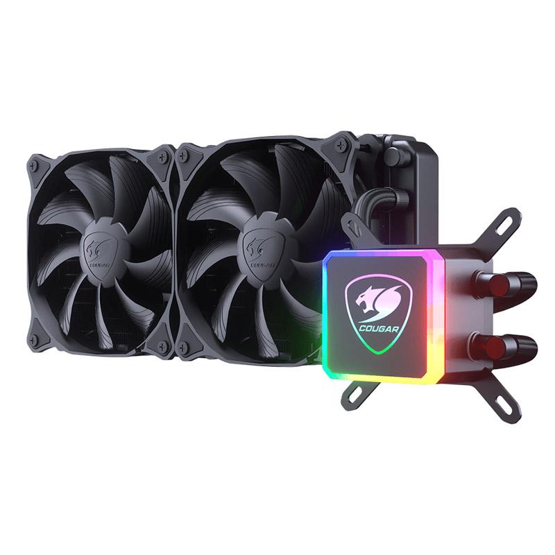 DISIPADOR PARA CPU COUGAR AQUA 240 RGB ENFRIAMIENTO LIQUIDO 2X 120MM INTEL Y AMD